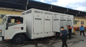 Quezon City Sends Mobile Showers to Residents Affected by Taal Eruption