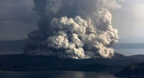 Taal Volcano Spews More Steam & Sulfur Dioxide Says Phivolcs