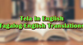"Tela In English: Tagalog-English Translation Of ""Tela"""
