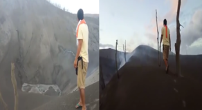Resident in Taal Bravely Documented the Latest Status of the Volcano (Video)