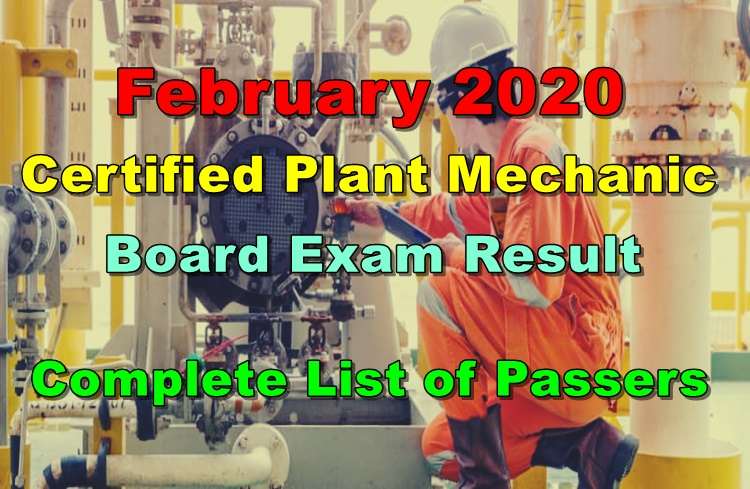 Certified Plant Mechanic Board Exam