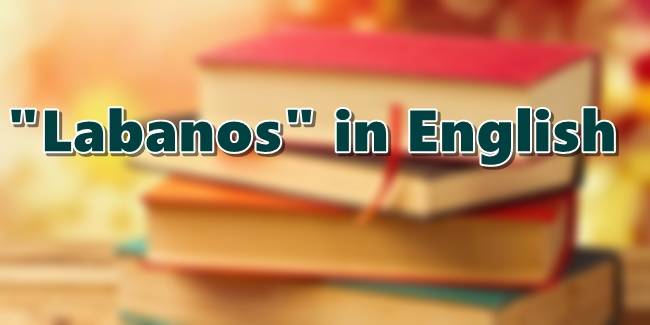 Labanos in English