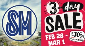 SALE ALERT!!! SM Malls 3-Day Sale: Feb 28 To Mar 1