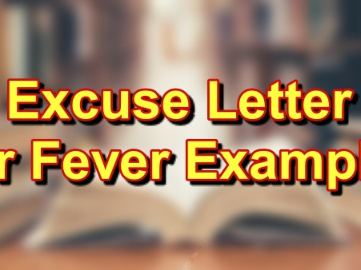 Excuse Letter For Sick from philnews.ph