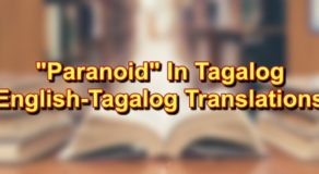 Paranoid In Tagalog: English To Tagalog Translations