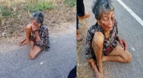 Drunk Grandson Mauls & Abuses His Own Grandma, He Forces Granny to Sleep on Streets