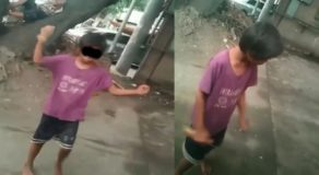 Young Street Kid Caught on Camera While Sniffing 'Rugby'