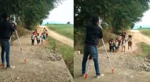Kids in Isabela Goes Viral After Thinking Surveying Equipment is a Camera