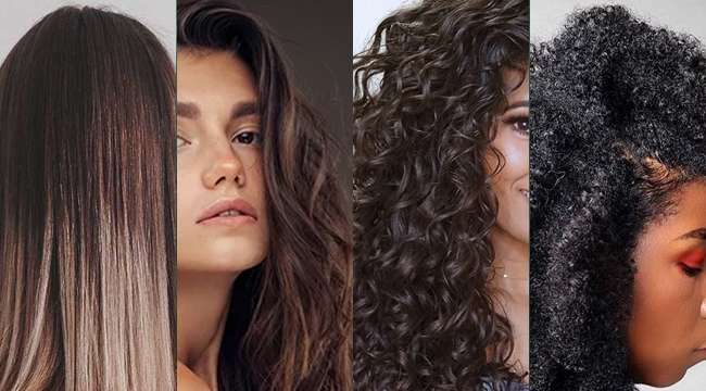 FOUR TYPES OF HAIR