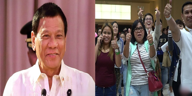 President Rodrigo Roa Duterte satisfaction rating