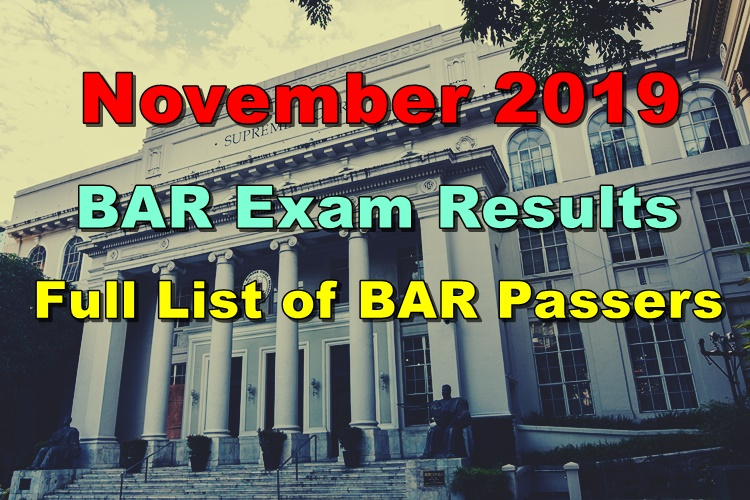 BAR Exam Results 2019