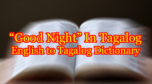 GOOD NIGHT IN TAGALOG