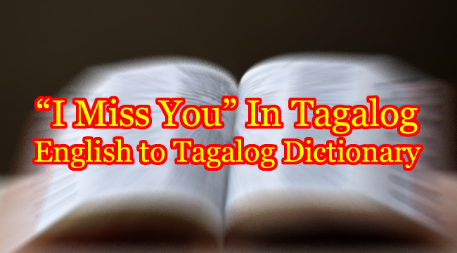 I MISS YOU IN TAGALOG