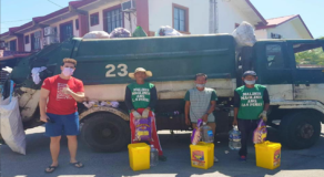 Kind Syrian Surprised Garbage Collectors with Trash Bin Filled with Groceries