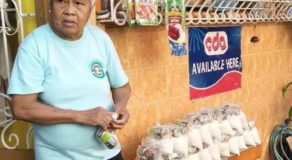 Kind Elderly Lady Gives Relief Goods to Poor Residents
