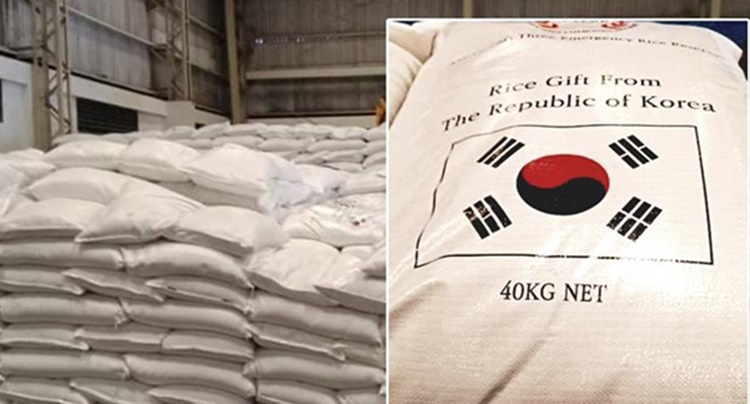 philippines receives rice donations south korea