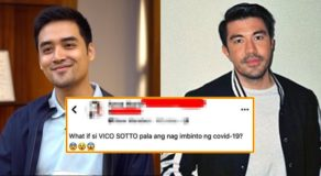 Vico Sotto accused by netizen as COVID-19 inventor, Luis Manzano reacts