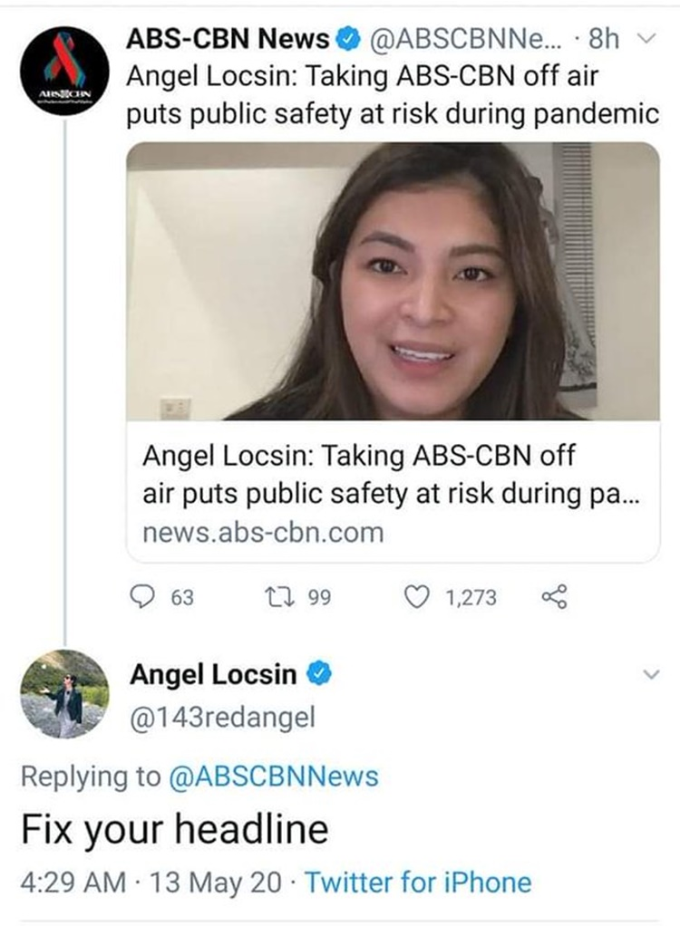 ngel locsin replies to abscbn tweet