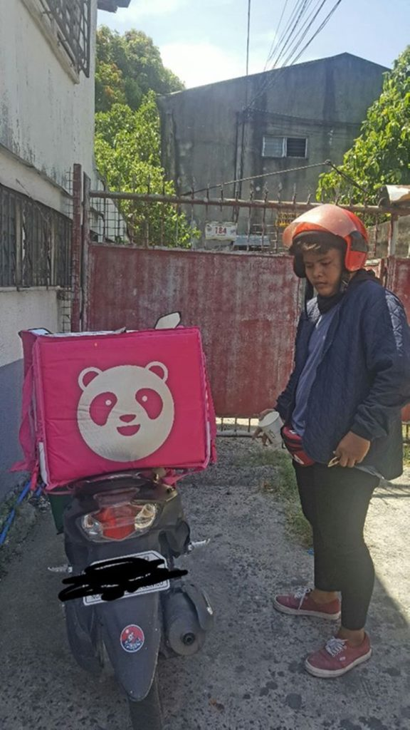 Disappointed Food Panda Rider
