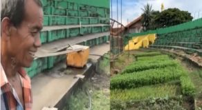 Old Farmer Shocks Management After Converting Football Stadium Into Farm