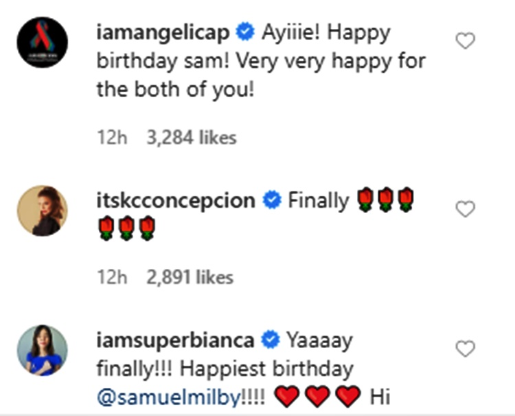 sam milby catriona gray comments