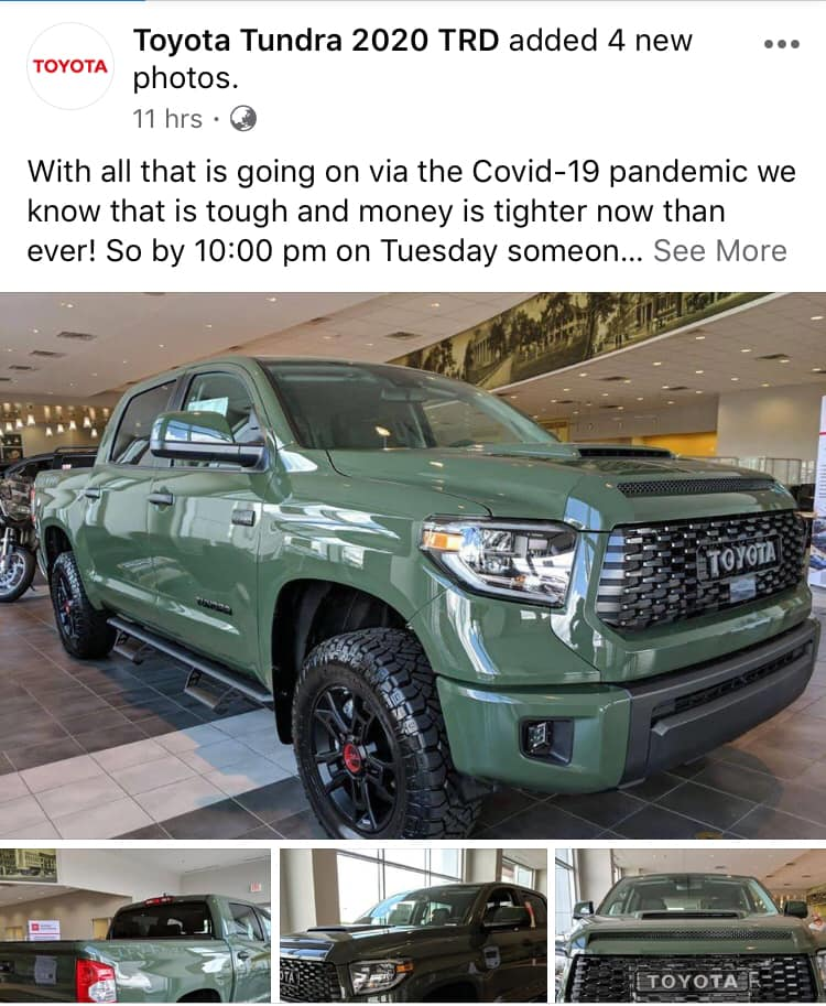Toyota Tundra Giveaway