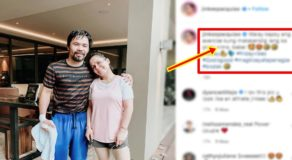 Jinkee Pacquiao Posts Cheesy Message for Senator Manny Pacquiao