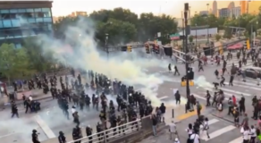 Atlanta Police Fire Tear Gas At Protesters, Wind Blows It Back At Police