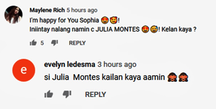 julia montes comments sofia andres
