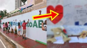 ABS-CBN Supporters Write Messages Of Encouragement On Freedom Wall