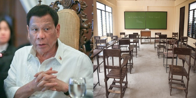 President rodrigo Roa Duterte face-to-face classes