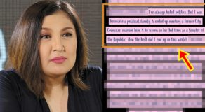 Sharon Cuneta Complains About Being An Artist Coming From Political Clan