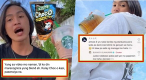 "Buknoy Drinking Fake Starbucks? – Baristas Call Drink ""Kulay Choc-o"""