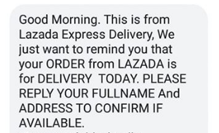 Lazada Delivery Scam/Shoppe Delivery Scam You Should Watch Out For!