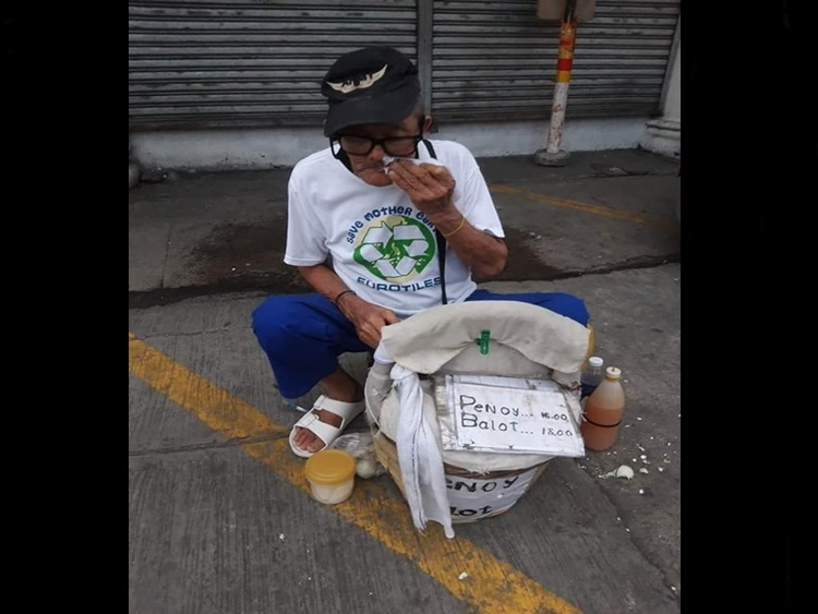 Elderly Balut Vendor
