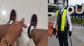 Good Samaritan Gives Shoes to Security Guard Who Can't Afford to Buy Tennis Shoes