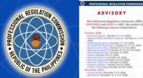 PRC: Professional Licensure Exams For October, Select November Reset To 2021