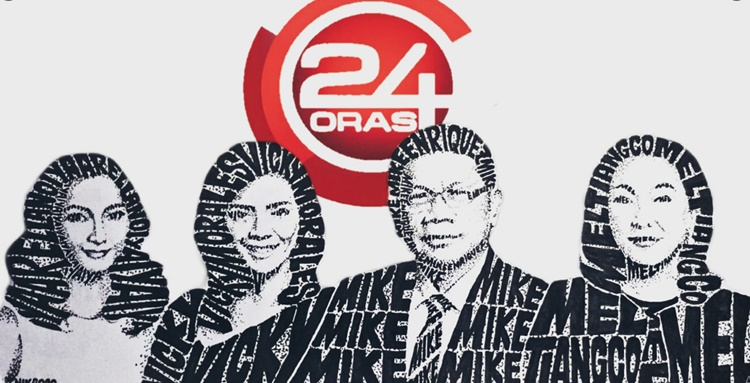 Text Art 24 Oras Reporters and Host