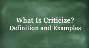 What Is Criticize? Definition And Usage Of This Term