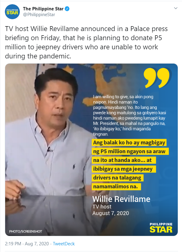 Hello, Earth Willie Revillame: Netizens Call Out Outlet For Funny Mistake