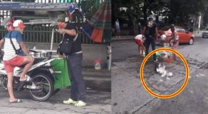 BPSO Officer Destroys & Scatters Products of Poor Siomai Vendor