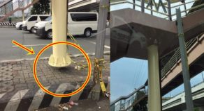 Strange Magnetic Anomaly Spotted Along Footbridge at EDSA