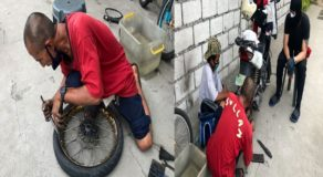 Street Vendor Tries Vulcanizing After Losing Livelihood Due to Pandemic