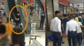 Crazy Guy Runs Amok Inside Shopping Mall, Guards Failed To Stop Him