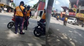 Traffic Enforcers Apprehend Motorist for Having Backrider But Commit Same Violation