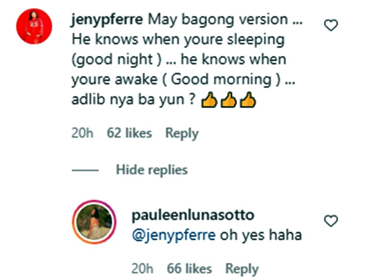 talitha sotto comment
