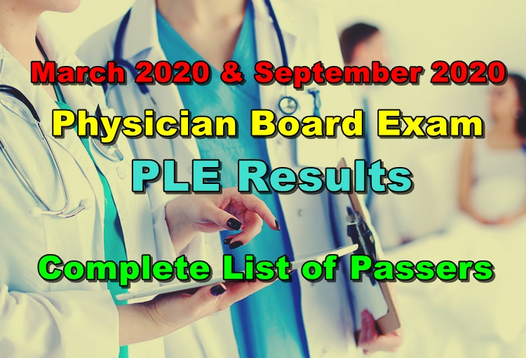 PLE Results March 2020