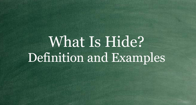 WHAT IS HIDE