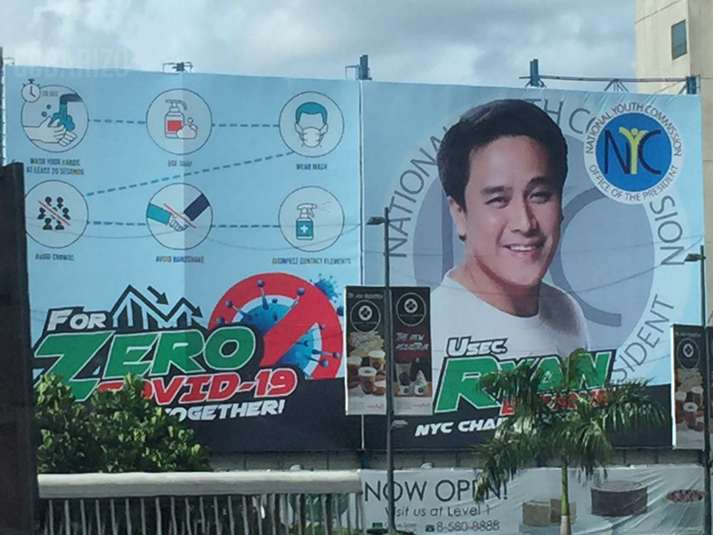Billboard with NYC Chairperson Face