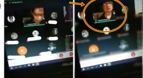 Male Teacher Scolding Student During Online Class For Having No Signal